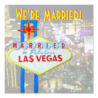 Marriage Announcement Las Vegas Wedding Photo