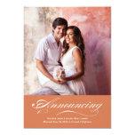 Marriage Announcement & Reception | Copper