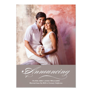 Marriage Announcement & Reception | Warm Gray