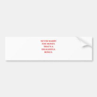 marriage bumper sticker