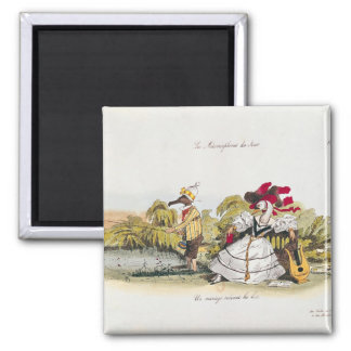 Marriage by the Book 2 Inch Square Magnet