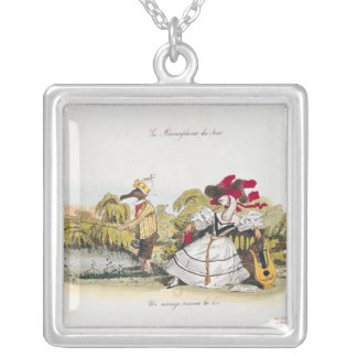 Marriage by the Book Square Pendant Necklace