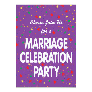 Marriage Celebration Party Invitation
