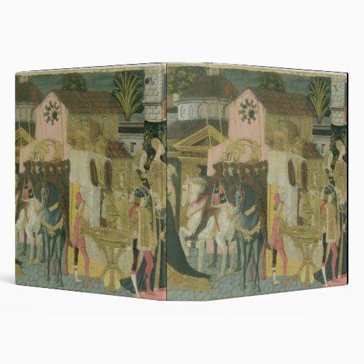 Marriage ceremony painted on cassone panel, Floren Binders