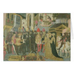 Marriage ceremony painted on cassone panel, Floren Card