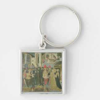 Marriage ceremony painted on cassone panel, Floren Keychains