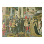 Marriage ceremony painted on cassone panel, Floren Post Cards