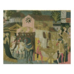 Marriage ceremony painted on cassone panel, Floren Poster
