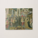 Marriage ceremony painted on cassone panel, Floren Jigsaw Puzzles