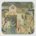 Marriage ceremony painted on cassone panel, Floren Stickers