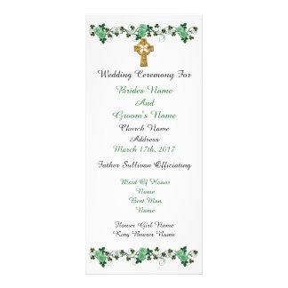 Marriage ceremony program Irish theme