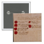 Marriage certificate of Wolfgang,Mozart and Weber Buttons