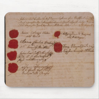 Marriage certificate of Wolfgang,Mozart and Weber Mouse Pad