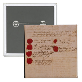 Marriage certificate of Wolfgang,Mozart and Weber Pinback Button