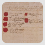 Marriage certificate of Wolfgang,Mozart and Weber Square Sticker