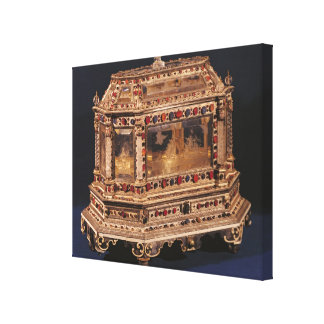 Marriage coffer, 1753 canvas print