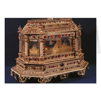 Marriage coffer, 1753 cards