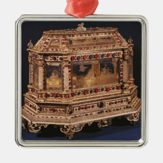 Marriage coffer, 1753 metal ornament