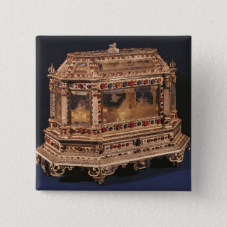 Marriage coffer, 1753 pinback button