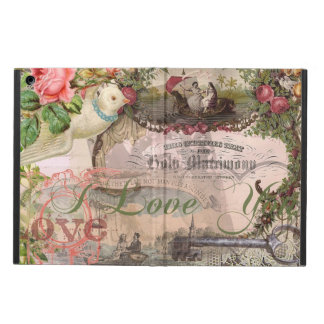 Marriage Collage Vintage Wedding Floral Cover For iPad Air