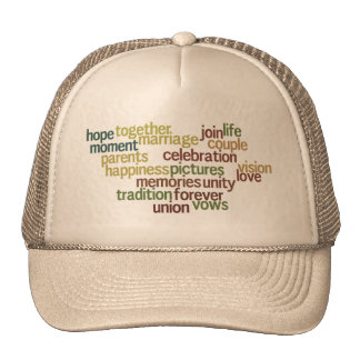 Marriage Collection Of Words (Wedding Wordle) Trucker Hat