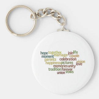 Marriage Collection Of Words (Wedding Wordle) Keychain
