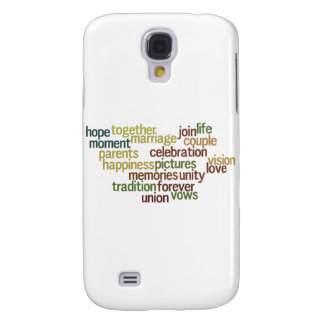 Marriage Collection Of Words (Wedding Wordle) Samsung Galaxy S4 Case