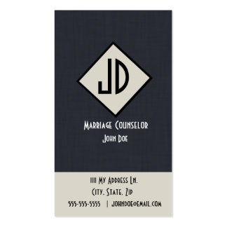 Marriage Counselor Business Card