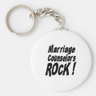 Marriage Counselors Rock! Keychain