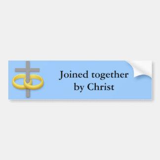Marriage Cross, - Bumper Sticker