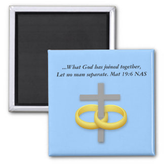 Marriage Cross Magnet with bible verse