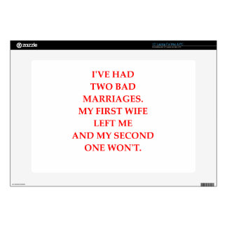 """MARRIAGE DECAL FOR 15"""" LAPTOP"""