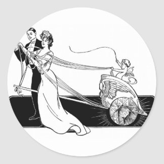 Marriage Diamonds on Credit Married Classic Round Sticker