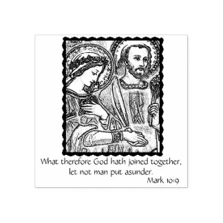 Marriage/Engagement/Matrimony of Mary & Joseph Rubber Stamp