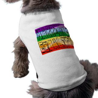 Marriage Equality Dog Tee Shirt