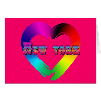 Marriage Equality in New York GBLT Design Greeting Card