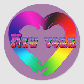 Marriage Equality in New York GBLT Design Sticker