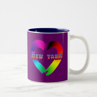Marriage Equality in New York GBLT Design Two-Tone Coffee Mug