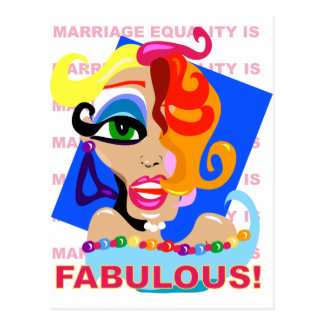 Marriage Equality Is Fabulous Postcard
