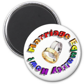 Marriage Equality Now! 2 Inch Round Magnet