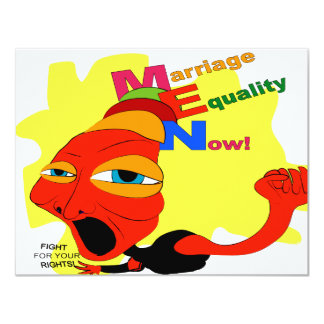 Marriage Equality Now! 4.25x5.5 Paper Invitation Card