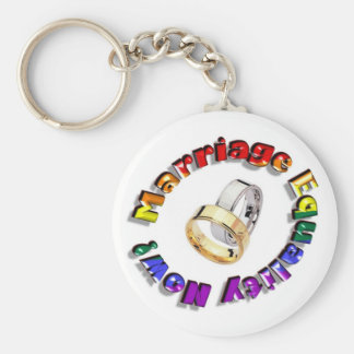 Marriage Equality Now! Basic Round Button Keychain