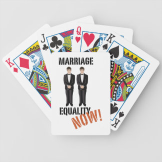Marriage Equality Now! Bicycle Playing Cards