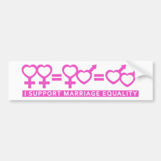 Marriage Equality / One Love bumper sticker