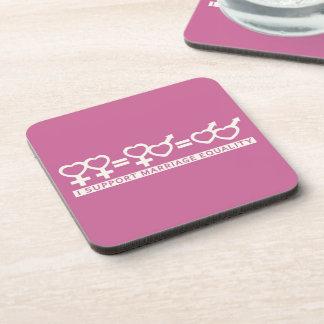 Marriage Equality / One Love custom coasters