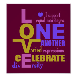Marriage Equality / One Love custom poster