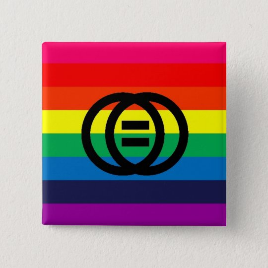 Marriage Equality Rainbow Button