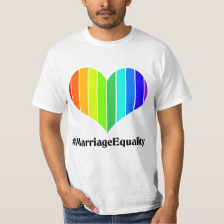 Marriage Equality Rainbow Heart T-Shirt