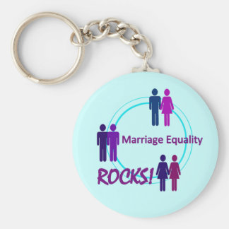 Marriage Equality ROCKS! Basic Round Button Keychain