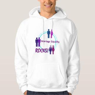 Marriage Equality ROCKS! Hooded Sweatshirts